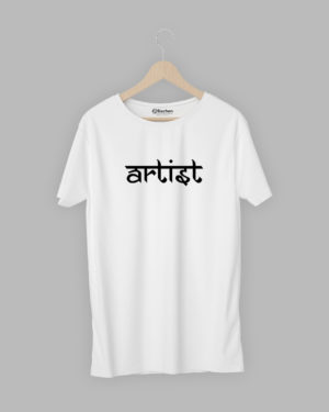 Artist modern hindi black t-shirt
