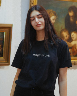 Music Is Life - Unisex Minimal T-shirt