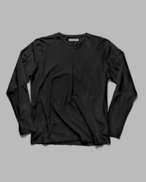 Black Plain Full Sleeve T-Shirt