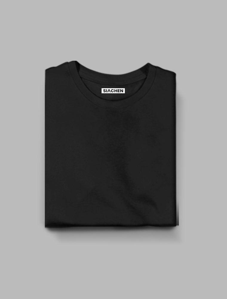 Black Plain - Half Sleeve T-Shirt 17/02/2021