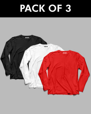 3 Plain Full Sleeve T-Shirt