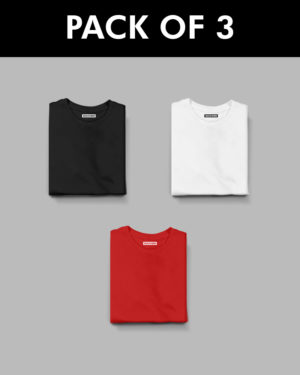 3 Plain Half Sleeve T-Shirt