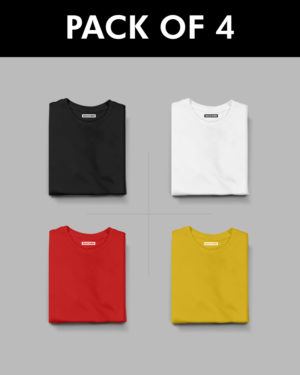 4 Plain Half Sleeve T-Shirt