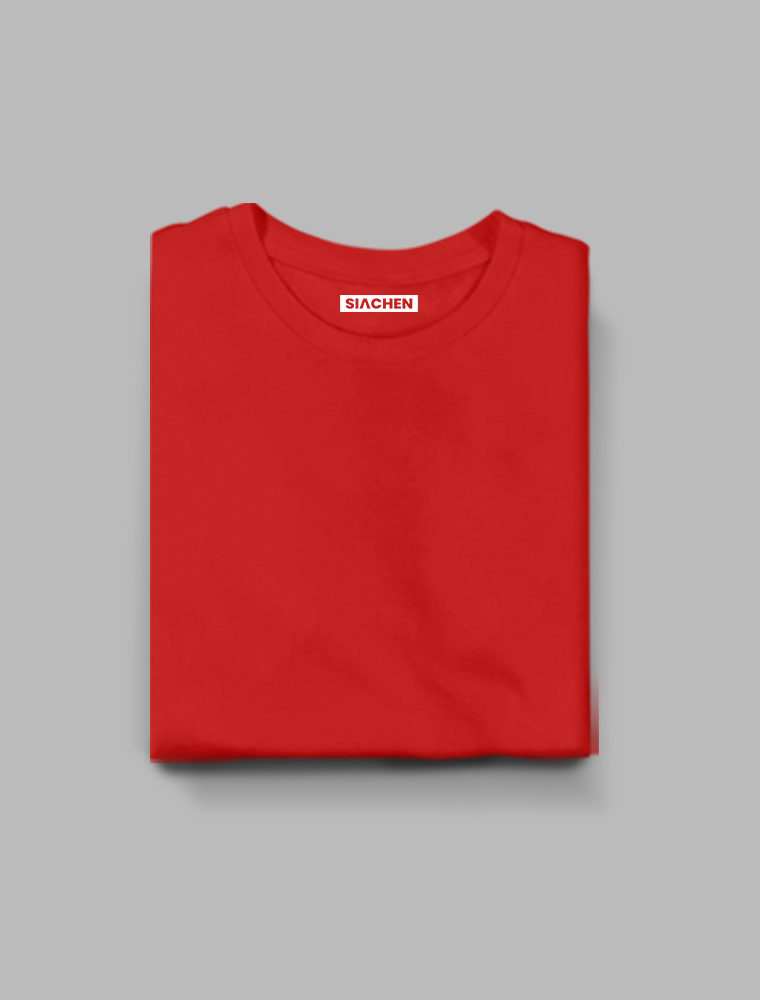 Red Plain Half Sleeve T-Shirt