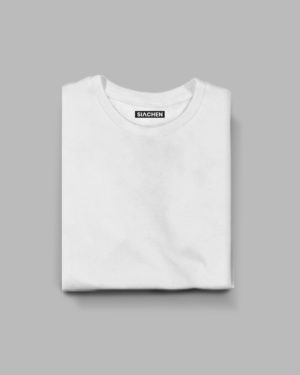 White Plain Half Sleeve T-Shirt :