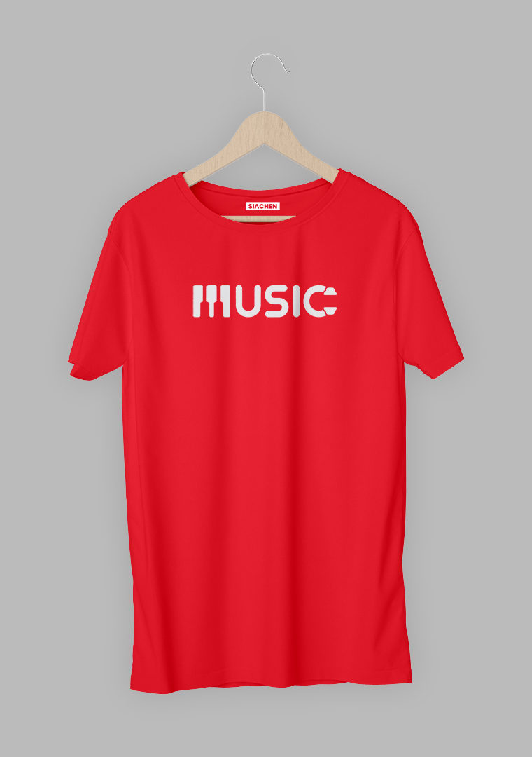 Music With Piano And Headphone T-Shirt