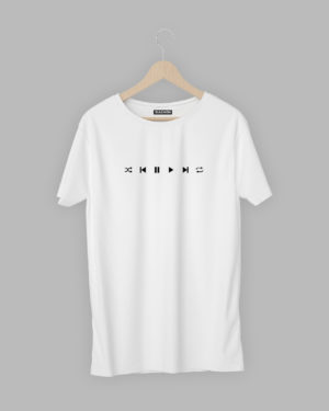 Play Pause Next Forward Minimal T-Shirt